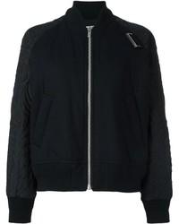 Cazadora de aviador de lana acolchada negra de Sacai