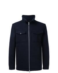 Cazadora de aviador de lana azul marino de Kent & Curwen