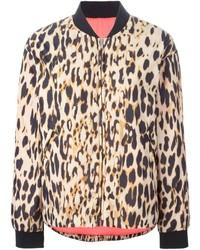 Cazadora de aviador de leopardo marrón de Sonia Rykiel