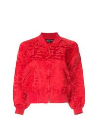 Cazadora de Aviador de Seda Roja de Comme Des Garçons Vintage