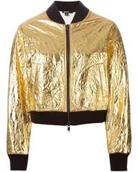 Cazadora de aviador dorada de DKNY