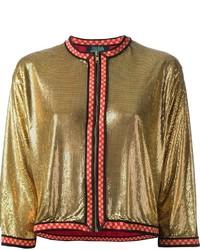 Cazadora de aviador dorada de Jean Paul Gaultier