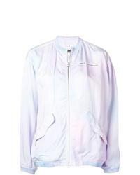 Cazadora de aviador efecto teñido anudado violeta claro de MM6 MAISON MARGIELA