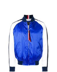 Cazadora de aviador en blanco y azul de Tommy Hilfiger