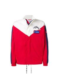 Cazadora de aviador en blanco y rojo y azul marino de Au Jour Le Jour For Colmar