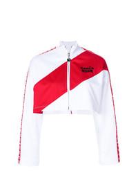 Cazadora de aviador en blanco y rojo de MSGM