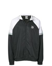Cazadora de aviador en negro y blanco de Puma