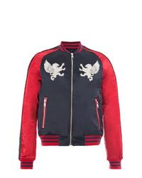 Cazadora de aviador en rojo y negro de Balmain