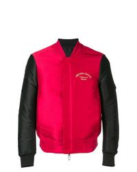 Cazadora de aviador en rojo y negro de Emporio Armani