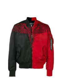 Cazadora de aviador en rojo y negro de Marcelo Burlon County of Milan