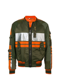 Cazadora de aviador estampada verde oscuro de Dolce & Gabbana