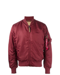 Cazadora de aviador roja de Alpha Industries