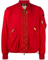 Cazadora de Aviador Roja de Burberry
