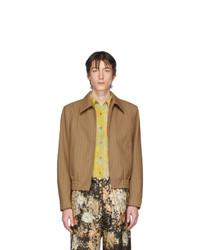 Cazadora harrington de lana marrón claro