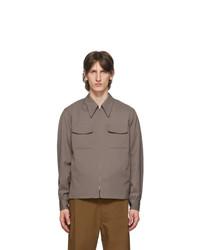Cazadora harrington de lana marrón