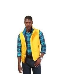 Chaleco de abrigo acolchado amarillo