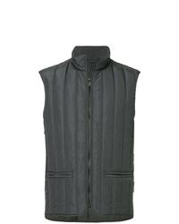 Chaleco de abrigo acolchado en gris oscuro de Cerruti 1881
