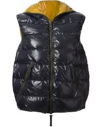 Chaleco de abrigo acolchado en gris oscuro de Duvetica
