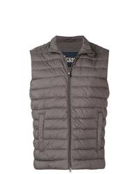 Chaleco de abrigo acolchado en gris oscuro de Herno