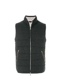Chaleco de abrigo acolchado en gris oscuro de N.Peal
