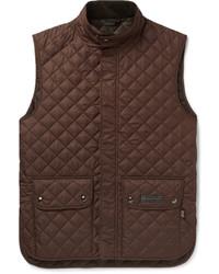 Chaleco de abrigo acolchado en marrón oscuro