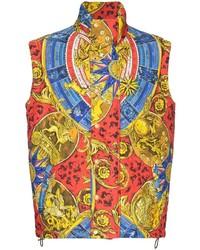 Chaleco de abrigo acolchado en multicolor de Moschino