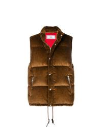 Chaleco de abrigo acolchado marrón de AMI Alexandre Mattiussi