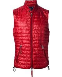 Chaleco de abrigo acolchado rojo