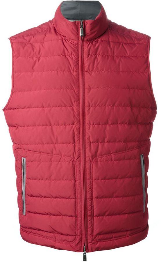 Chaleco de abrigo acolchado rojo de Canali