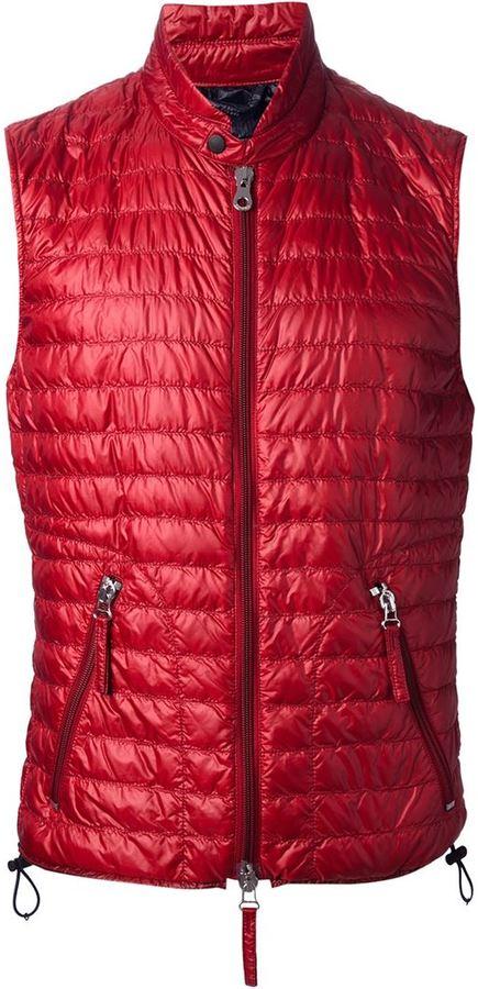 Chaleco de abrigo acolchado rojo de Duvetica