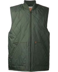 Chaleco de abrigo acolchado verde oscuro