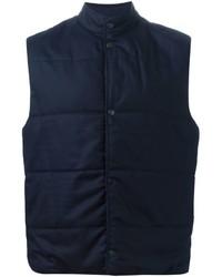 Chaleco de abrigo de lana azul marino de Paul Smith