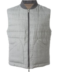Chaleco de abrigo de lana gris de Brunello Cucinelli