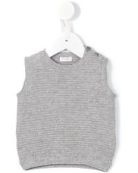 Chaleco de abrigo de lana gris de Il Gufo