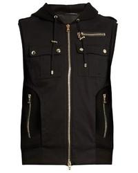Chaleco de abrigo de lana negro
