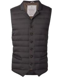 Chaleco de abrigo en gris oscuro de Brunello Cucinelli