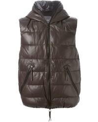 Chaleco de abrigo en marrón oscuro