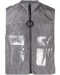 Chaleco de abrigo gris de Angus Chiang