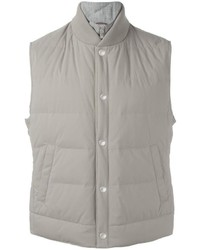 Chaleco de abrigo gris de Brunello Cucinelli