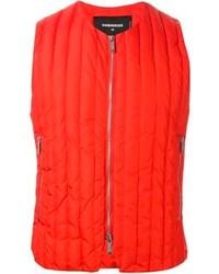 Chaleco de abrigo naranja de DSquared