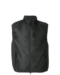 Chaleco de abrigo negro de Aspesi