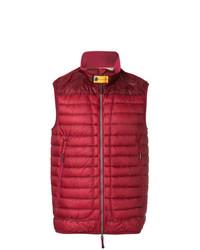 Chaleco de abrigo rojo de Parajumpers