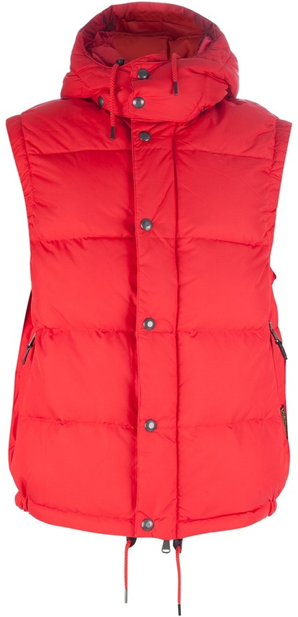 Chaleco de abrigo rojo de Ralph Lauren Blue Label