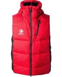 Chaleco de abrigo rojo de Ralph Lauren