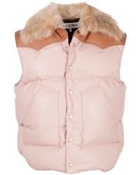 Chaleco de abrigo rosado de Loewe