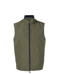 Chaleco de abrigo verde oliva de Canali