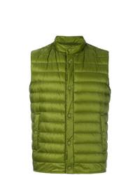 Chaleco de abrigo verde oliva de Herno