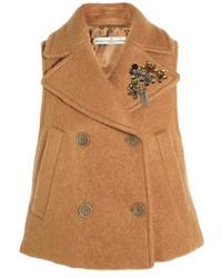 Chaleco de lana marrón claro
