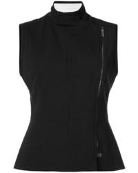 Chaleco de lana negro de Vera Wang