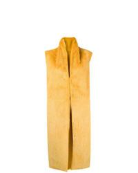 Chaleco de pelo amarillo de Liska
